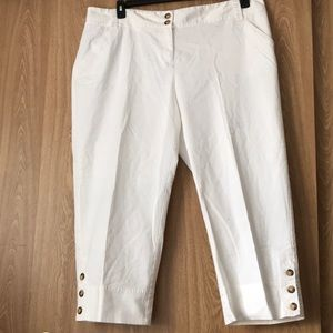 NEW white cropped pants